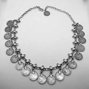 Jewelry - Antique silver finish Coin necklace.